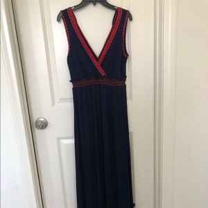 Jessica Simpson Maternity sleeveless navy dress S